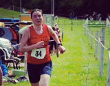 Naomi finishing strong at the Llanthony fell race