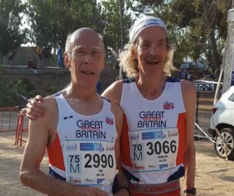 Steve (right) with Martin Ford of Cheltenham