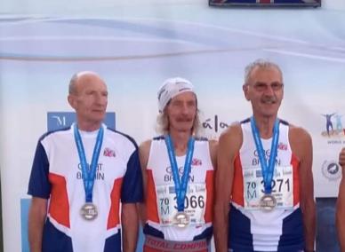 Steve with his winning team mates